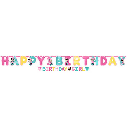Minnie's Fun To Be One Jumbo Letter Banner Kit