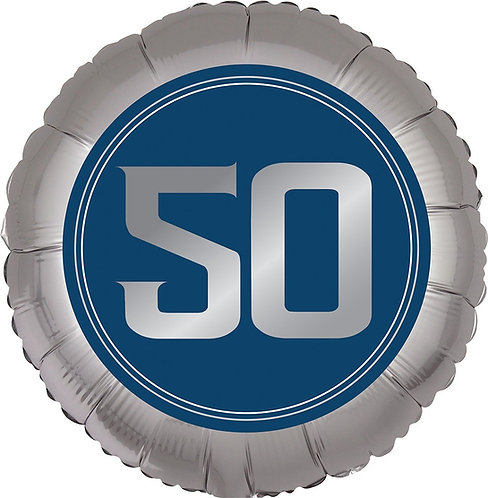 #373 Happy Birthday Man 50 18in Balloon