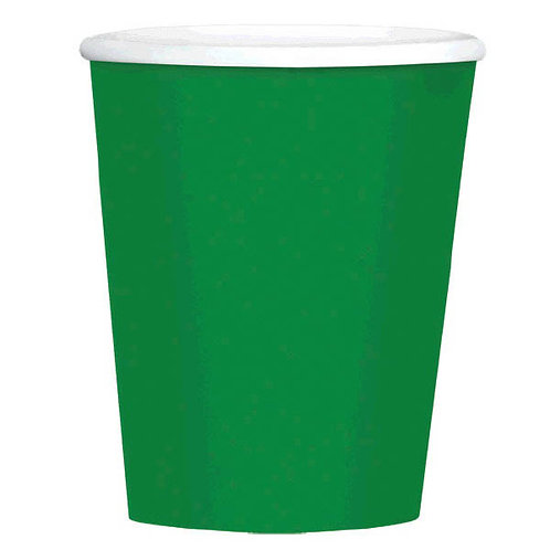 Green 12 oz. Paper Coffee Cups 40ct