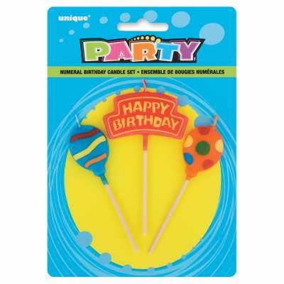 Balloons Birthday Candle Set