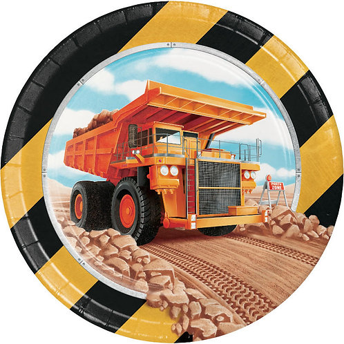 Big Dig Construction Dessert Plates 8ct