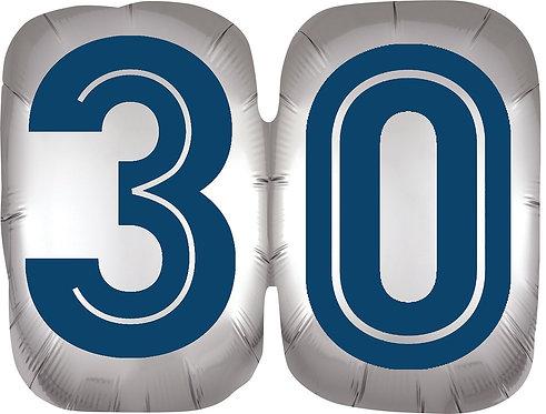 Happy Birthday Man 30 - 25in Balloon