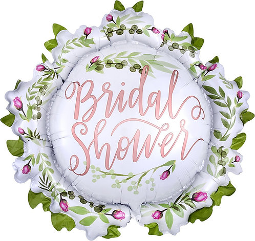 #156 Love & Leaves Bridal Shower 30in Mylar Balloon