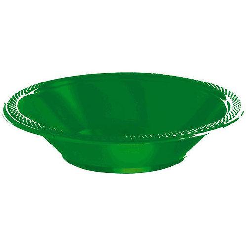 Green 12oz. Plastic Bowls 20ct