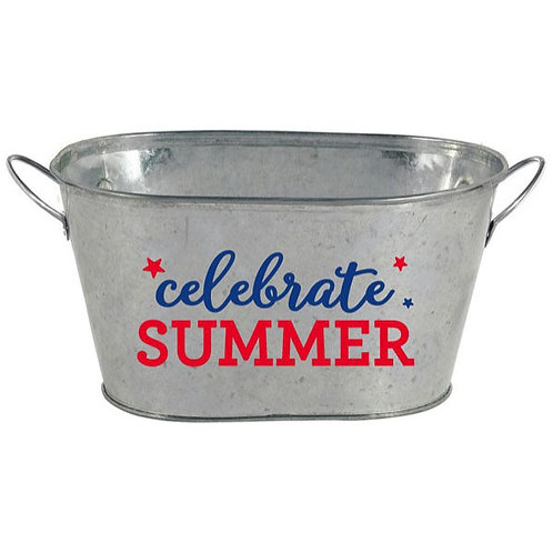 Patriotic Mini Metal Tub
