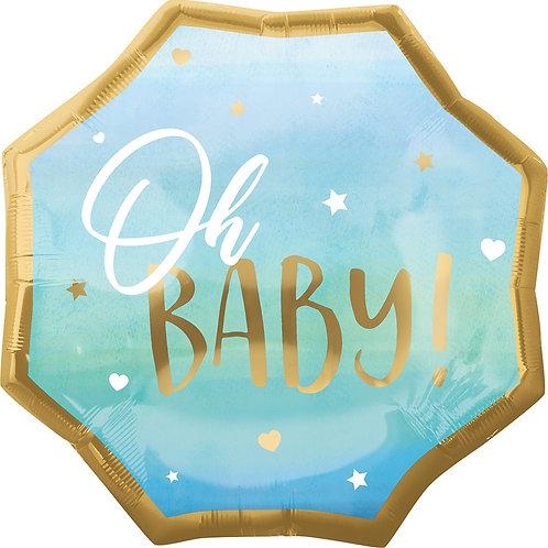 #160 Oh Baby Boy 22in Mylar Balloon