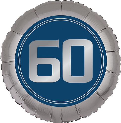 #378 Happy Birthday Man 60 18in Balloon