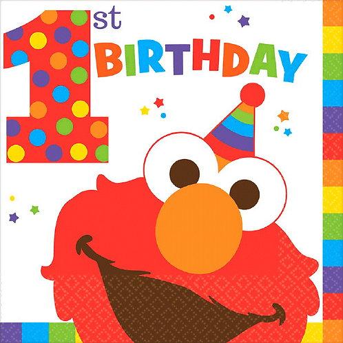 Sesame Street Elmo Turns One Lunch Napkins 16ct