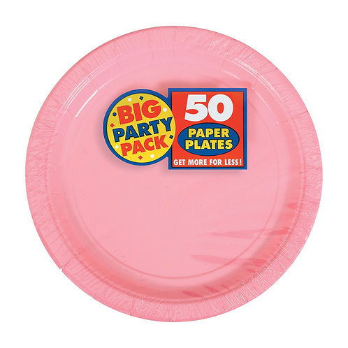 Pink 7in Paper Plates 50ct