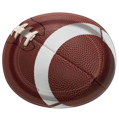 Football Party Paper Oval Plates 8ct