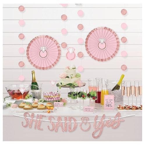 Blush Wedding Buffet Table Decorating