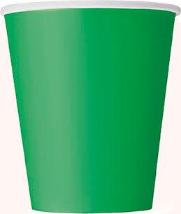 Emerald Green 9oz Paper Cups 14ct