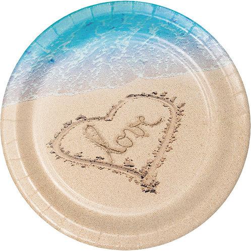 Beach Love Dinner Plates 8ct
