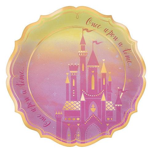 Disney Princess Shaped Metallic Dinner Plates 8ct