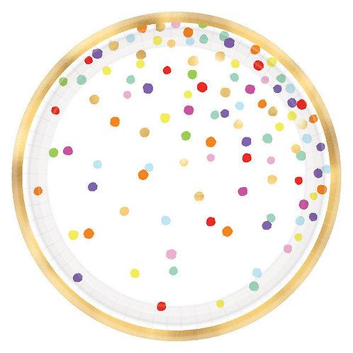 Rainbow Confetti 5.5in Appetizer Plates - 36ct