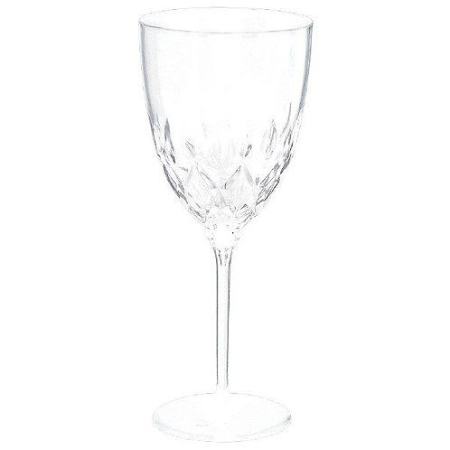 Crystal Premium Plastic Wine Glasses 8ct