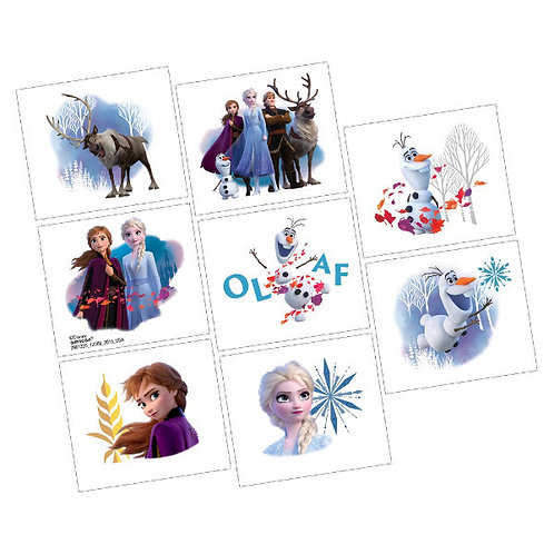Frozen 2 Tattoos 8ct