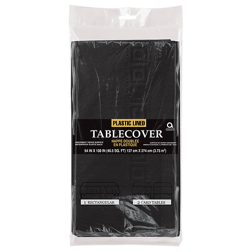 """Black Paper Table Cover 54"""" x 108"""""""