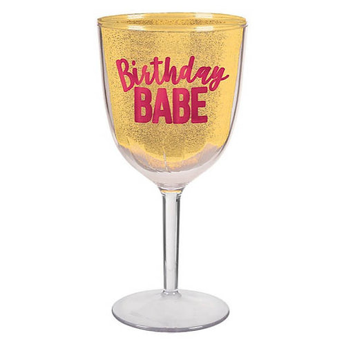 Confetti Fun Wine Goblet