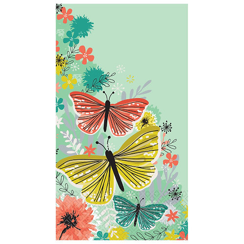 Bright Butterflies Guest Towels 16ct