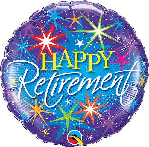 #398 Retirement Color Bursts 18in Balloon