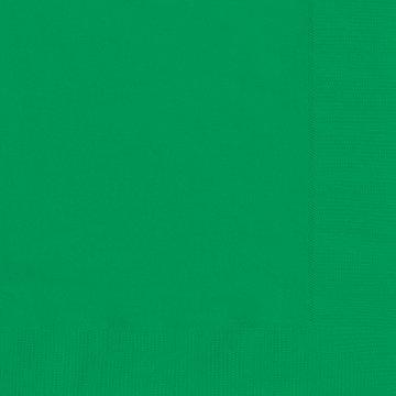 Emerald Green Beverage Napkins 20ct