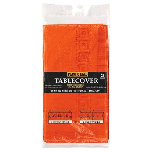 "Orange Paper Table Cover 54"" x 108"""