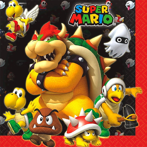 Super Mario Brothers Lunch Napkins 16ct
