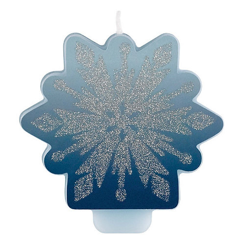 Frozen 2 Glitter and Decal Candle