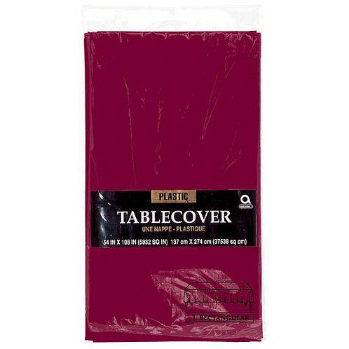"Berry Rectangular Plastic Table Cover, 54"" x 108"""
