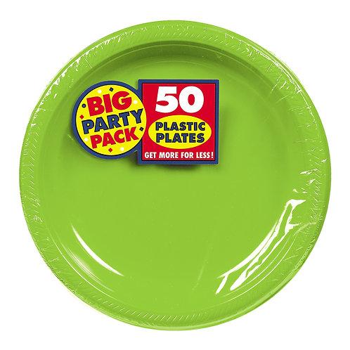 Kiwi Green 7in Plastic Plates 50ct