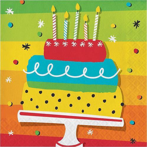 Hoppin' Birthday Cake Lunch Napkins 16ct