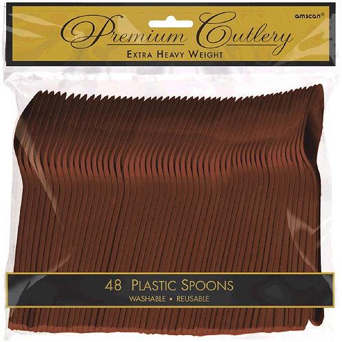 Brown Plastic Spoons 48ct