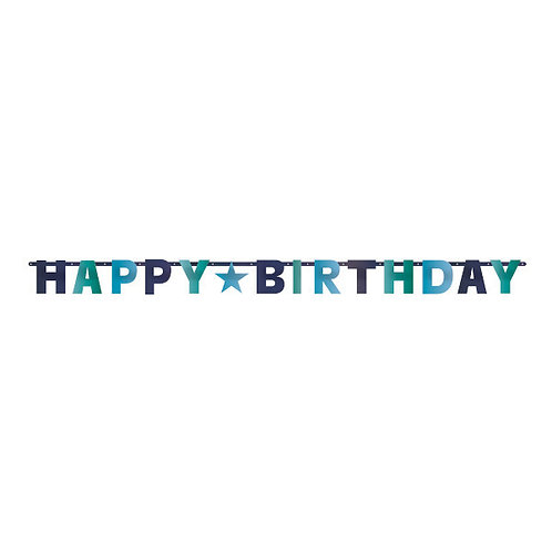 Birthday Blues Foil Letter Banner