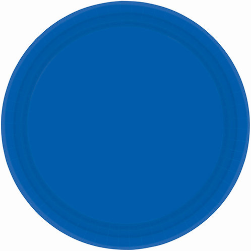 Royal Blue 7in Paper Plates 20ct