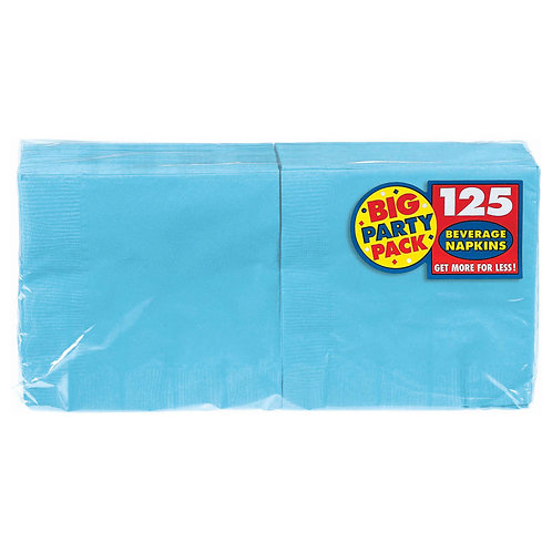 Caribbean Blue Beverage Napkins 125ct