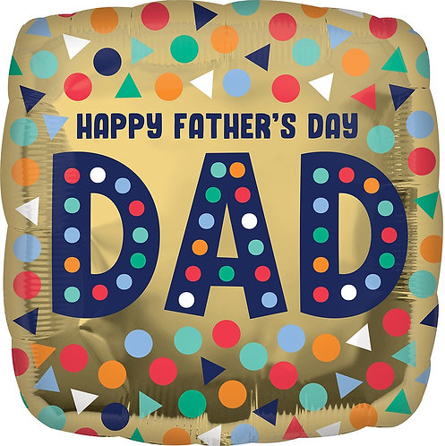 Happy Father's Day Dad 18in Mylar Balloon