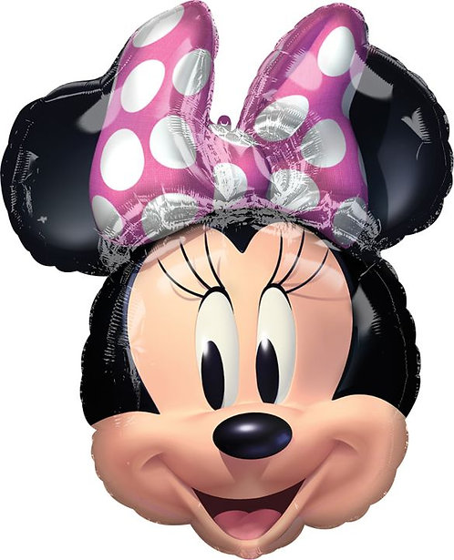 #130 Minnie Mouse Head 28in Balloon