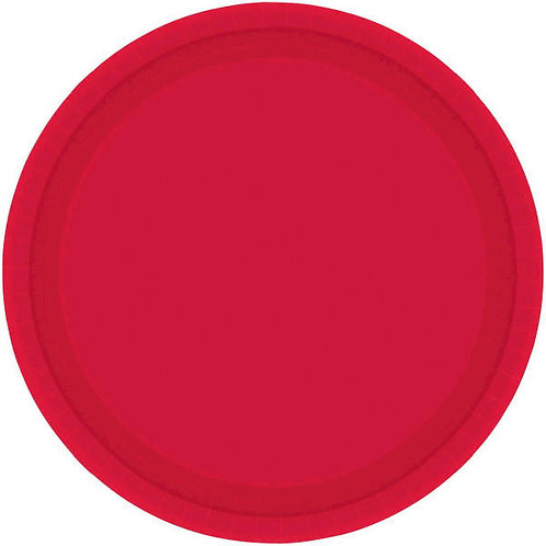 Red 9in Paper Plates 20ct