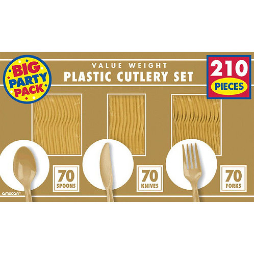 Gold Value Cutlery Set 210ct