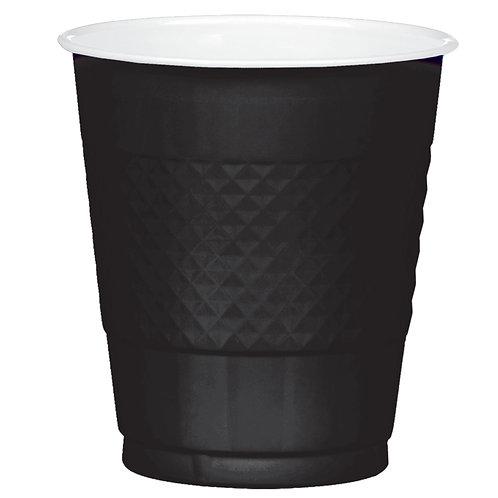 Black 12oz Plastic Cups 20ct