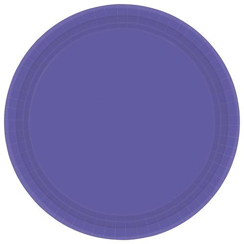 Purple 9in Paper Plates 20ct