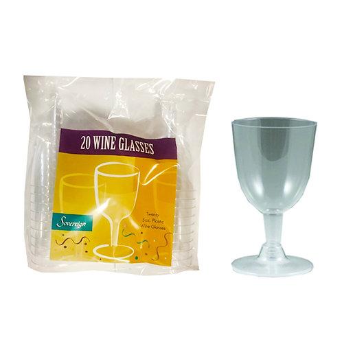 Sovereign Plastic 5oz Wine Glasses