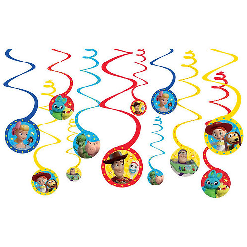 Toy Story 4 Spiral Decorations