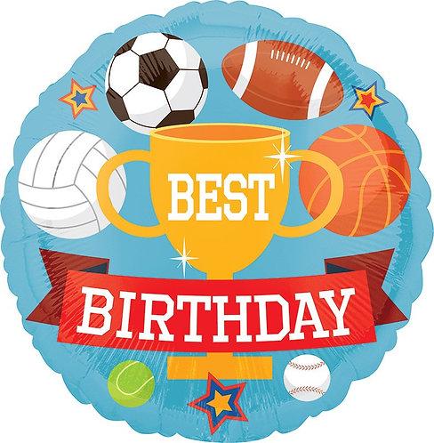 #299 Sports Birthday 18in Balloon