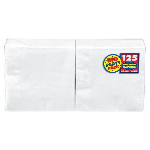 White Lunch Napkins 125ct