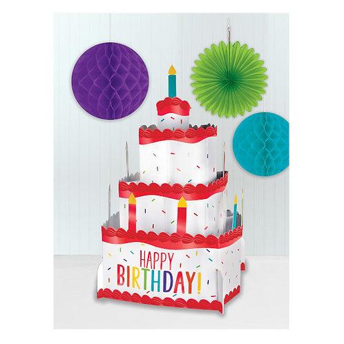 Birthday Accessories Rainbow Pop Up Centerpiece
