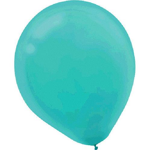 Inflated Robins Egg Blue Latex Balloon