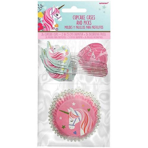 Magical Unicorn Cupcake Cases & Picks 24ct