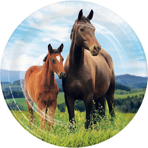 Horse and Pony Dessert Plates 8ct